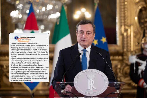 Governo Draghi già deciso nel 2019 dal Bilderberg, la previsione complottista (ma falsa) diventata virale