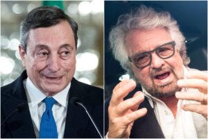 """Mario Draghi """"una Mary Poppins un po' suonata"""", cosa diceva Beppe Grillo del presidente incaricato"""