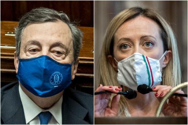 Draghi, è luna di miele con gli italiani: piace a oltre sei su dieci, seconda la Meloni