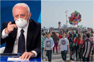 """Campania in zona arancione, De Luca: """"Probabile, i cittadini non rispettano le regole"""""""