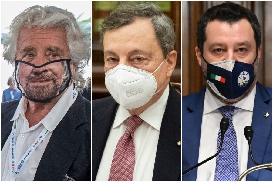 """Perché Grillo e Salvini sono passati con Draghi? """"Se il tuo avversario è troppo forte passa dalla sua parte…"""""""