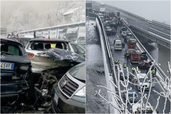 Asfalto ghiacciato, dramma in autostrada: 2 morti, 30 feriti e 25 auto coinvolte