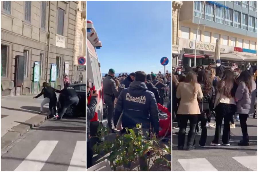 """Botte al 118 e rissa tra giovani, Carnevale folle sul lungomare di Napoli: """"Stato assente e clienti in fuga"""""""