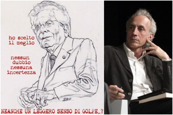 Vignetta di Mattarella golpista? Travaglio e Mannelli andrebbero denunciati…