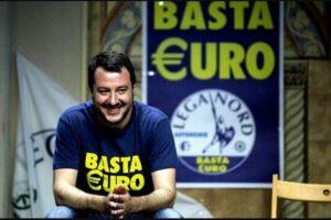 """Salvini dimentica la svolta europeista e governista: """"Euro irreversibile? Solo la morte lo è"""""""