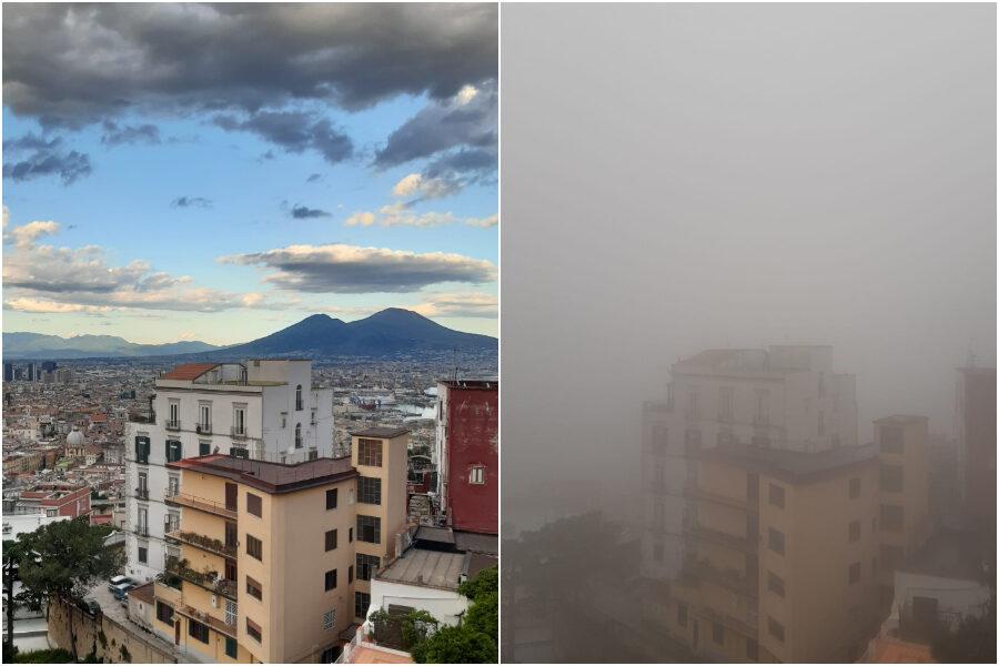 Napoli si sveglia tra la nebbia fitta, la spiegazione del fenomeno mai visto prima