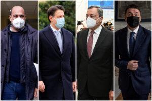 """Tutti contro """"lo Sceicco"""" Renzi: Zingaretti tifa Conte, ma i suoi sognano Draghi"""