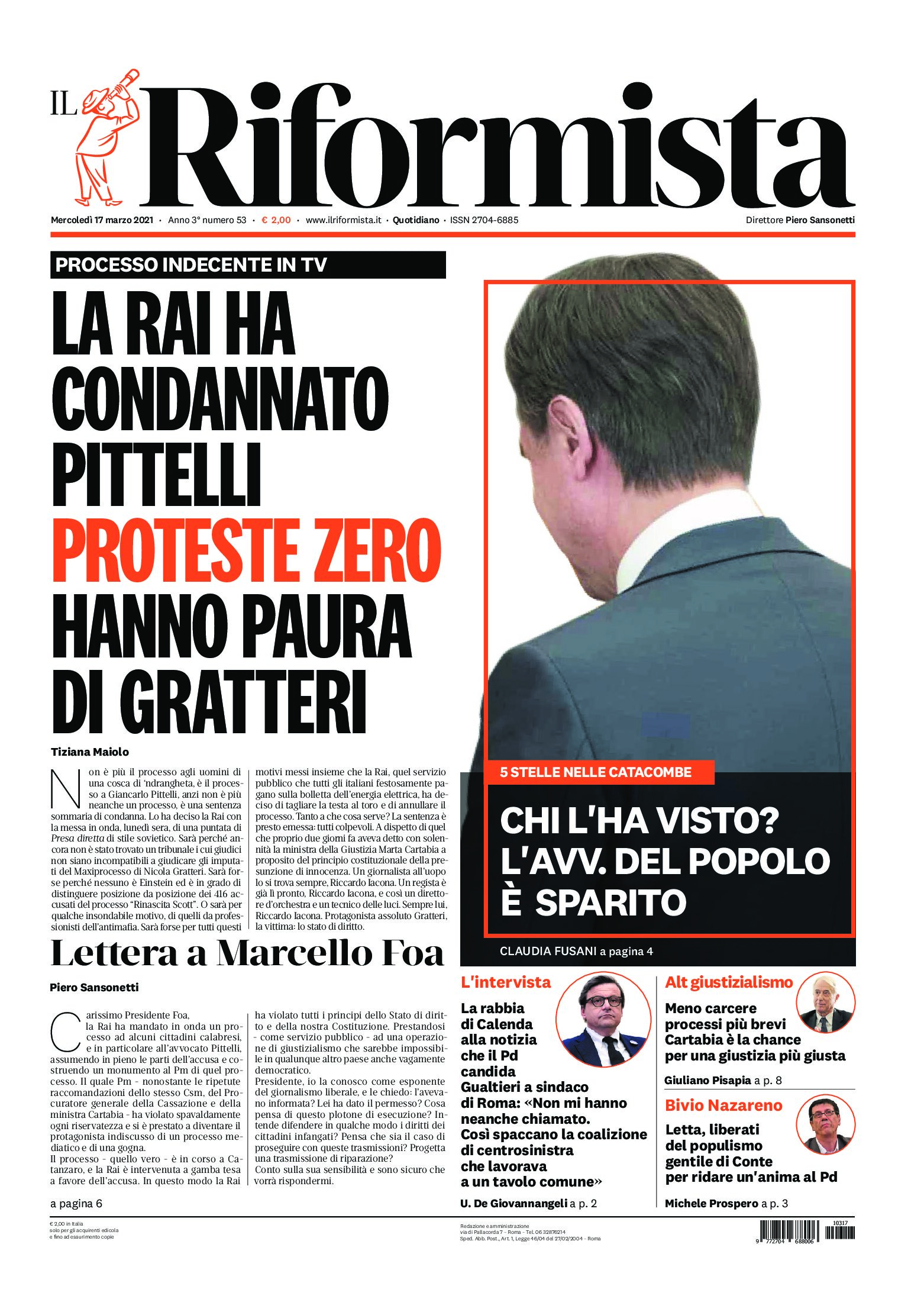 Quotidiano del 17 marzo 2021