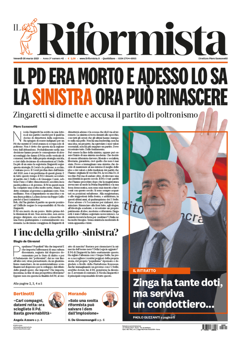 Quotidiano del 5 marzo 2021