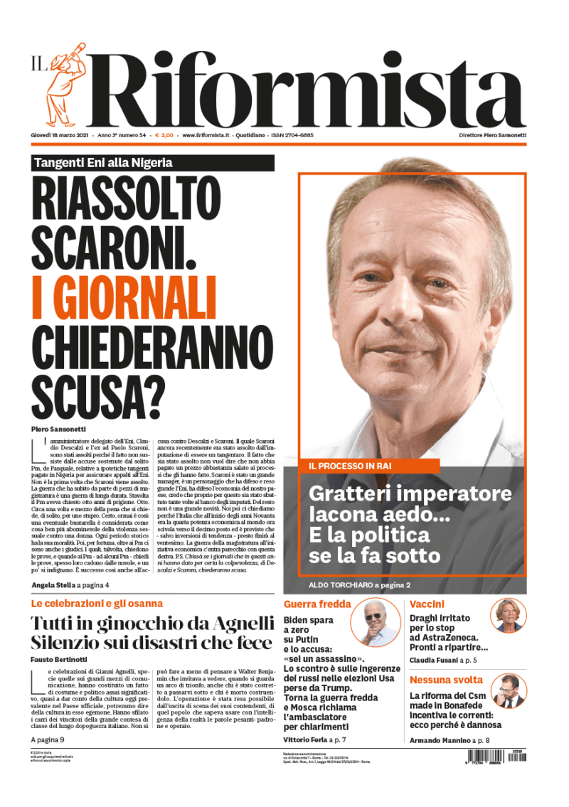 Quotidiano del 18 marzo 2021