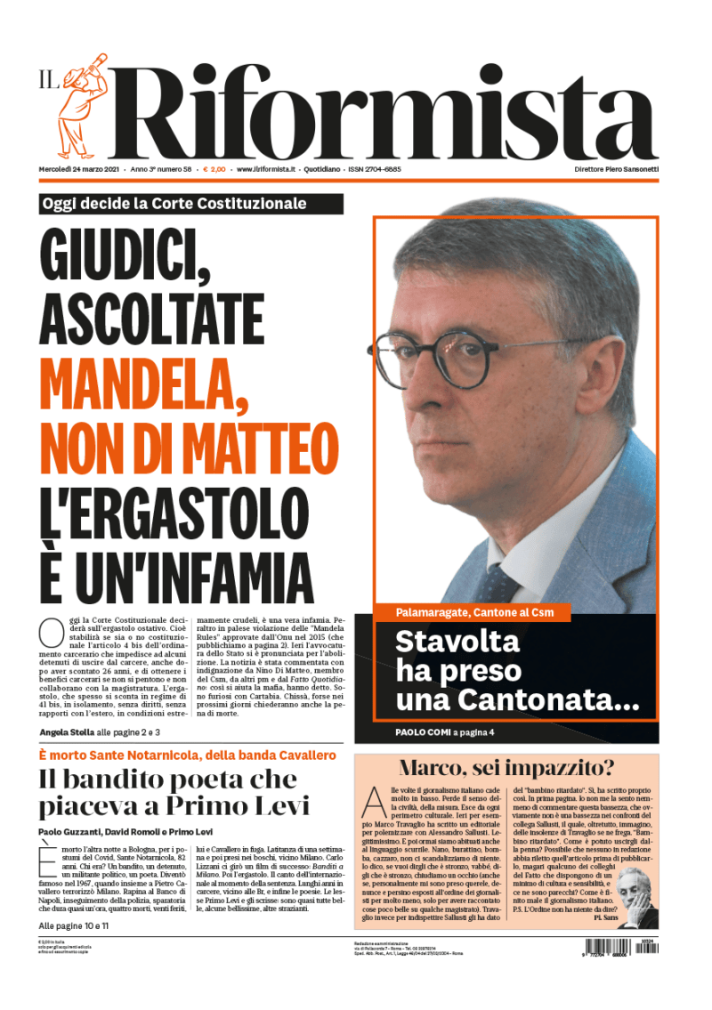 Quotidiano del 24 marzo 2021