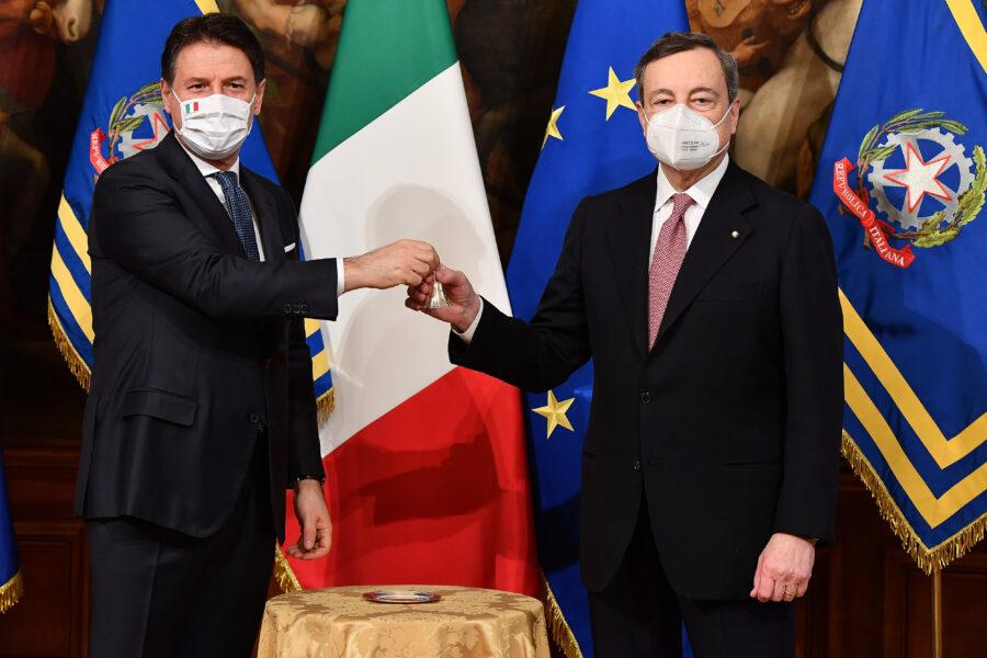 Draghi piace più di Conte agli italiani, così come il suo governo