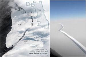"""Iceberg gigante alla deriva in Antartide, gli esperti: """"Potrebbe rappresentare rischio per la navigazione"""""""