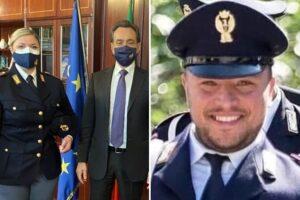 """La vedova di Lino Apicella è poliziotta: """"Così ho mio marito sulla pelle. Anche Thiago sogna la divisa"""""""