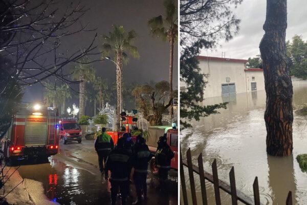 Maltempo, danni in tutta la Campania: a Giugliano famiglie evacuate col gommone