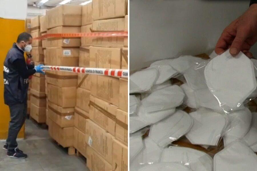 Sequestrate 60 milioni di 'mascherine di Arcuri': fabbricazione cinese, filtrano 10 volte di meno