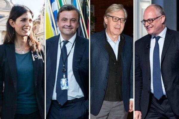 Sondaggio sulle elezioni del sindaco di Roma: chi è il preferito tra Raggi, Gualtieri, Calenda e Sgarbi