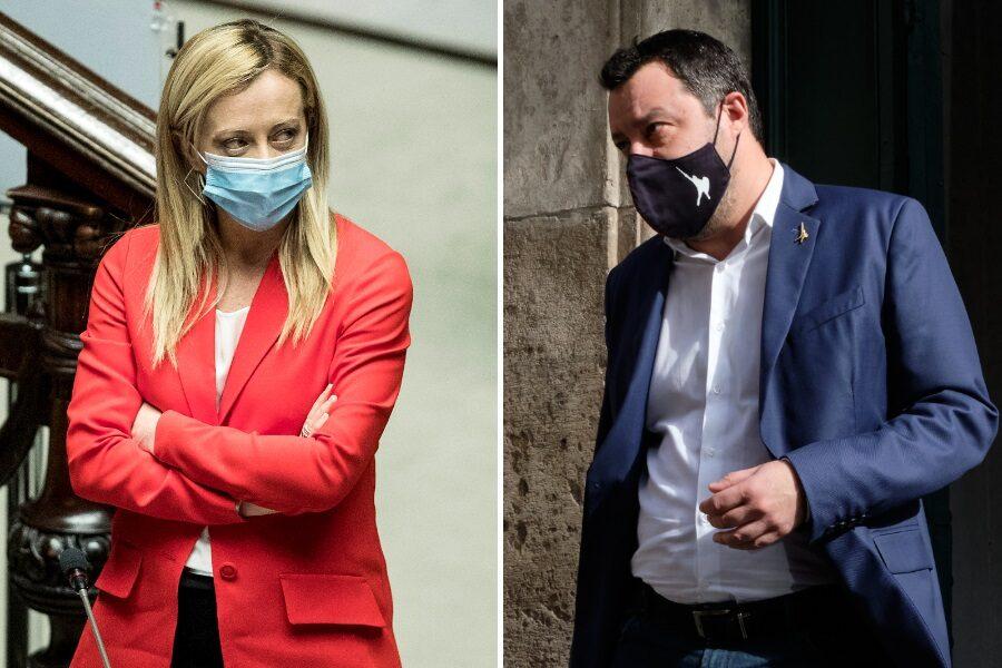 Sondaggio Swg, Meloni rosicchia consensi a Salvini: controsorpasso FdI su M5s
