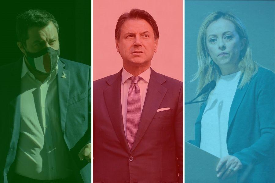 Sondaggio Ipsos: a destra Salvini e Meloni si equivalgono, a sinistra il preferito è Conte
