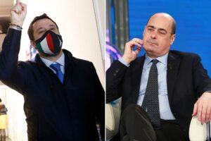 """Salvini """"di governo"""" torna a far crescere la Lega che aumenta il distacco sul Pd"""