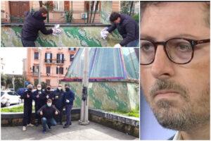 """Giovani cancellano scritte per i baby-rapinatori ma Borrelli si prende i meriti: """"Ci ha censurati"""""""