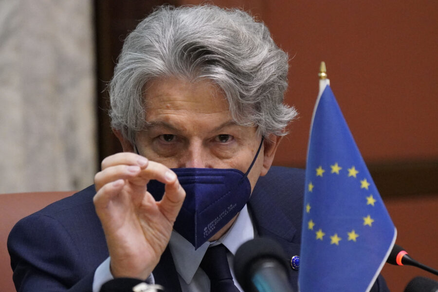 THIERRY BRETON COMMISSARIO EUROPEO TASK FORCE SUI VACCINI