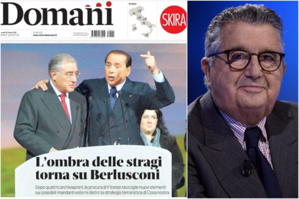 """""""Mafioso e stragista"""", De Benedetti all'attacco di Berlusconi scatenando il suo 'Domani'"""