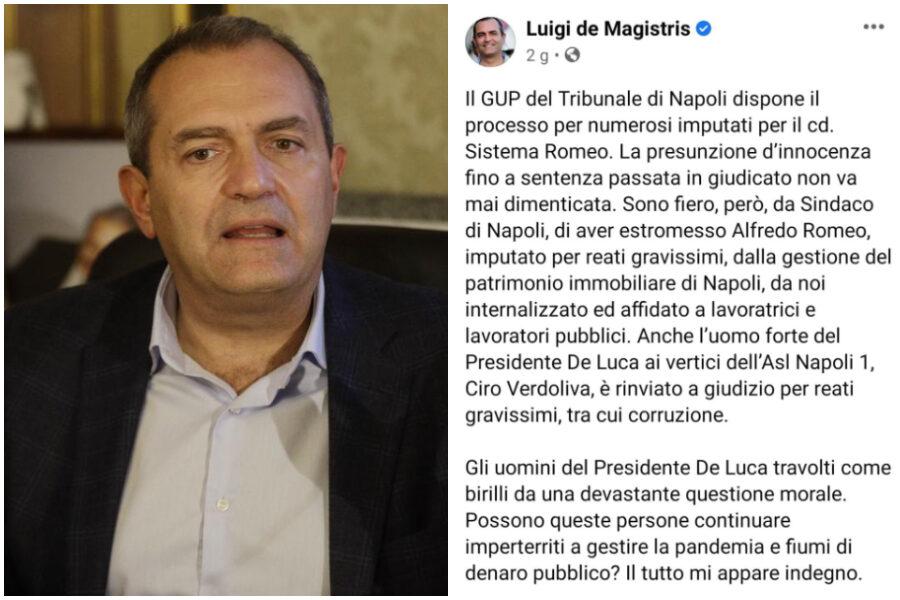 De Magistris nasconde i suoi fallimenti con le bugie: e fa autogol