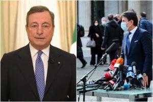 Conte grande comunicatore di cose di scarso valore, Draghi rimette al centro i contenuti
