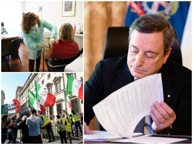 Vaccini, l'Italia Zona Rossa, il dl Sostegno: la corsa di Draghi contro il covid