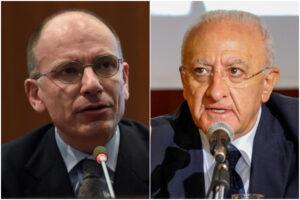 Comune di Napoli, per il candidato di centrosinistra tutto dipende dal duello tra Letta e De Luca