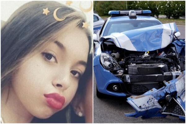 Volante polizia insegue rapinatori e si schianta contro auto: muore ragazzina di 14 anni