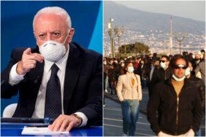 Campania in lockdown, De Luca chiude tutto: piazze, parchi e lungomare