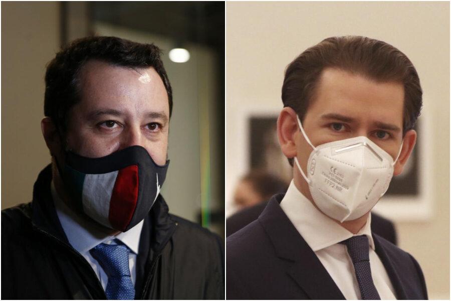 """Austria spacca l'Unione Europea sui vaccini puntando su Israele, Salvini a ruota: """"Facciamo come loro"""""""