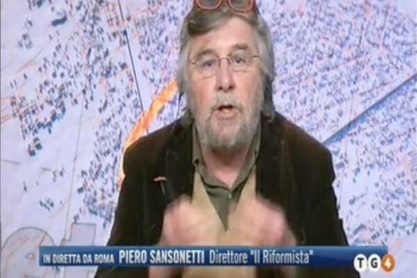 """Sansonetti al Tg4: """"Gratteri va rimosso, ha avallato bufale antisemite"""""""