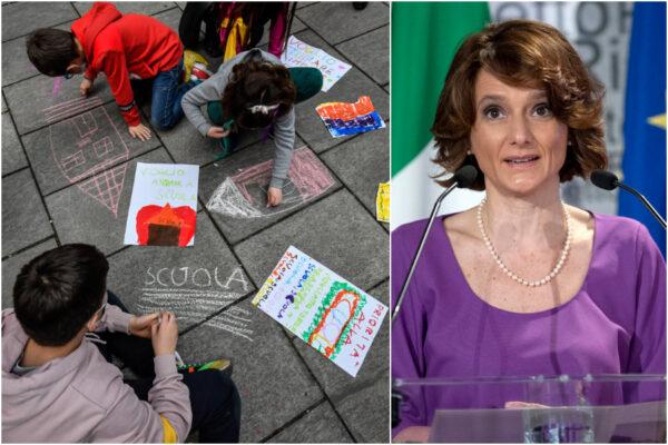 """Riapertura scuola, il ministro Bonetti: """"Valutare rientro per materne e primarie nelle zone rosse dopo Pasqua"""""""
