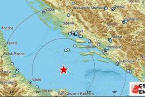 Forte scossa di terremoto su Costa Adriatica, avvertita in tutto il centro sud Italia