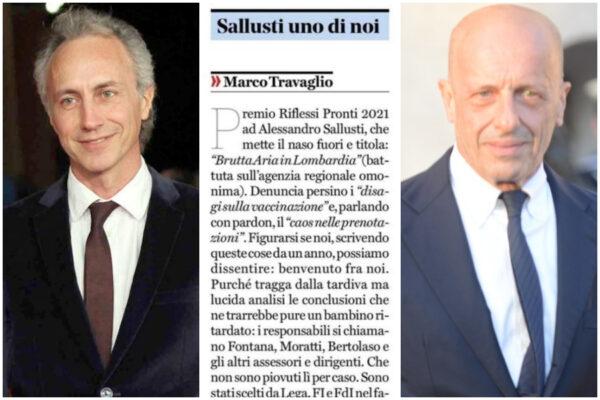 """Marco Travaglio è impazzito: ha dato del """"bambino ritardato"""" ad Alessandro Sallusti…"""