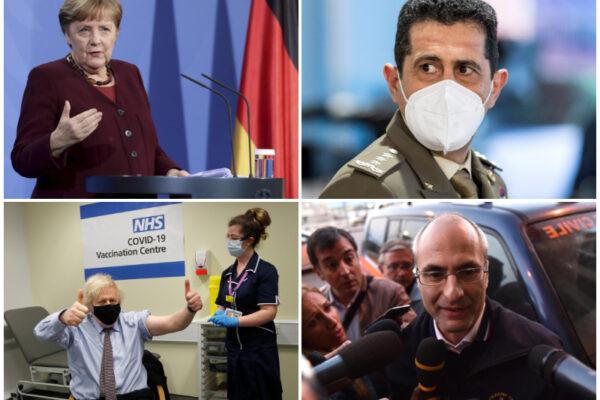 AstraZeneca: Figliuolo e Curcio vaccinati come BoJo, Merkel pronta