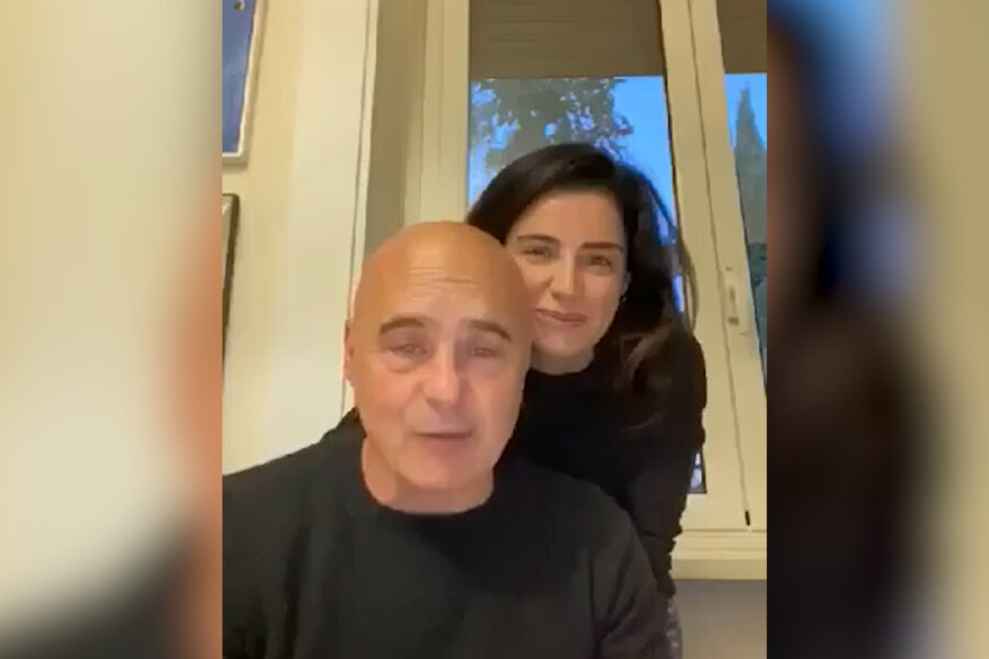"""Luca Zingaretti e Luisa Ranieri: """"Siamo molto orgogliosi di Ascierto e di tutti gli operatori del Pascale"""""""