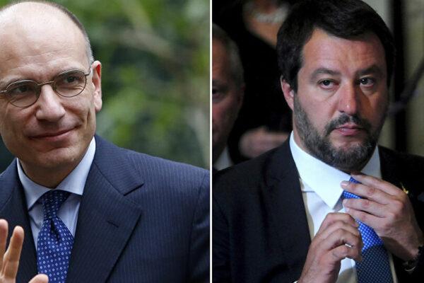 """Coprifuoco, Letta attacca: """"Lega fuori dal Governo"""". Salvini: """"Volete italiani chiusi in casa"""""""