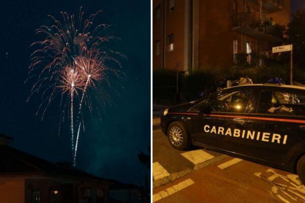 I fuochi d'artificio insospettiscono gli agenti: in 20 festeggiavano il compleanno dopo il coprifuoco, multati