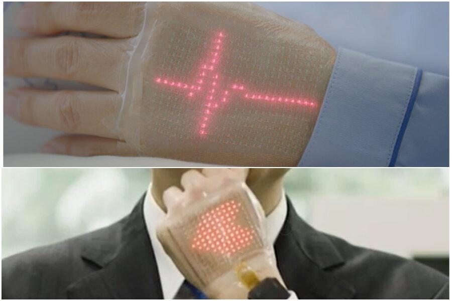 Ecco E-skin, il sensore indossabile che monitora i parametri vitali