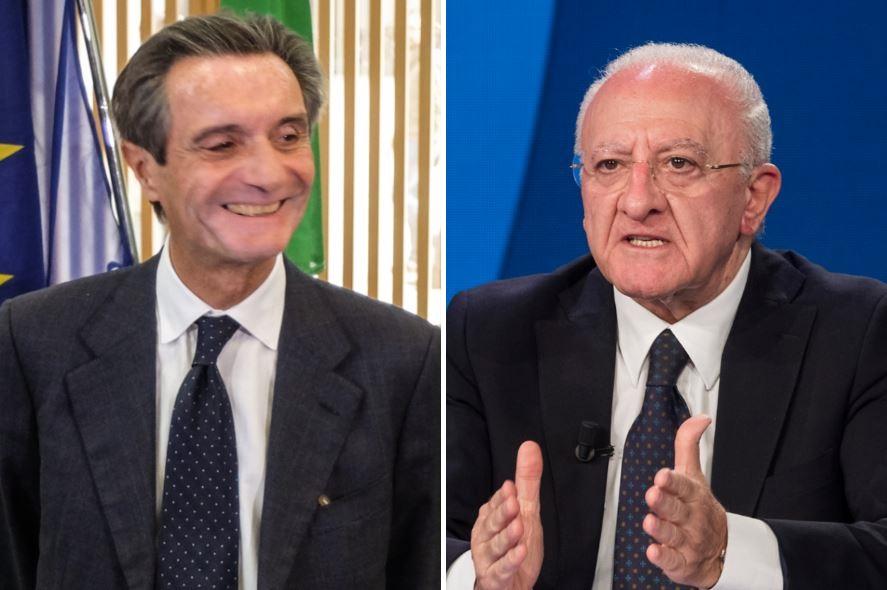 """Governatori contro il ricatto di De Luca: """"Ok se avesse vaccini in eccesso"""""""