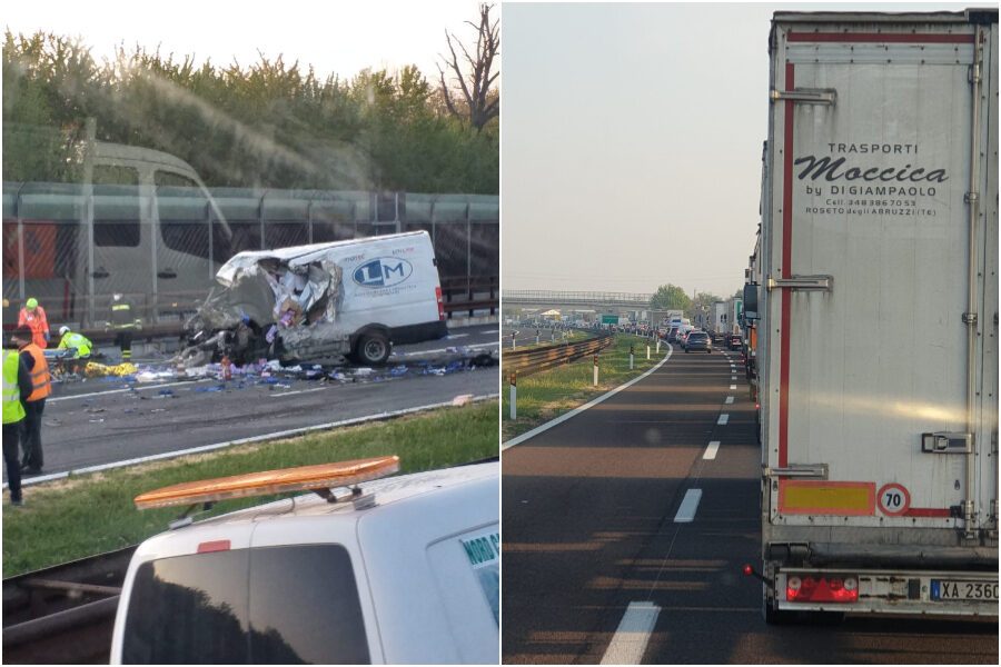Scontro tra camion e furgone sull'A22, quattro feriti: conducente grave trasportato in elisoccorso