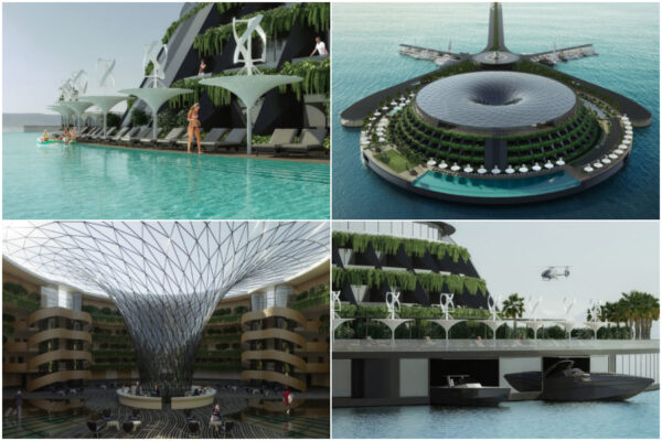 Arriva l'hotel galleggiante totalmente ecosostenibile: la struttura sul mare autoprodurrà anche energia elettrica