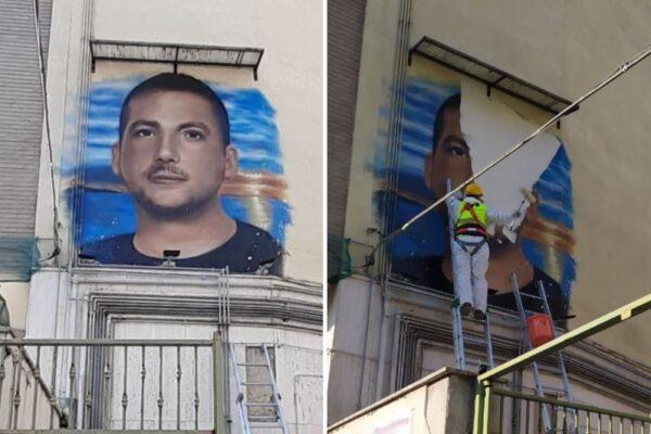 """Muore di cancro a 24 anni """"ma è un criminale"""": rimosso il murales di Raffaele Tammaro, vendeva sigarette di contrabbando"""