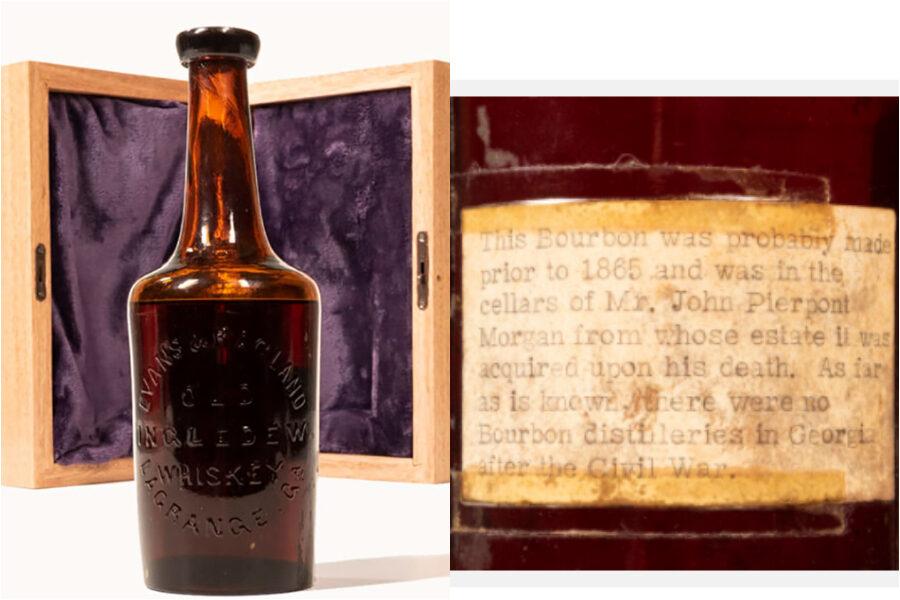 All'asta la bottiglia di whisky più antica al mondo: È l'unica superstite della cantina di JP Morgan