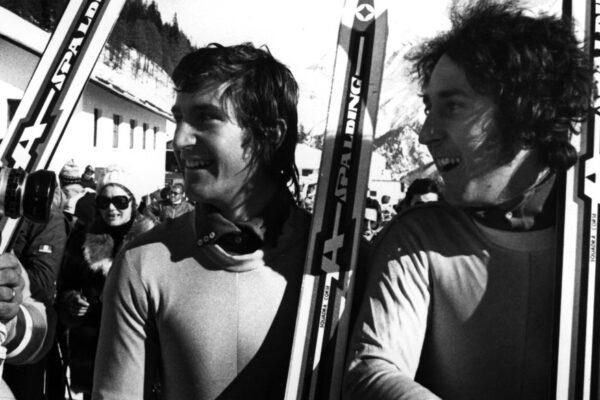 Da sinistra, Herbert Plank e Rolando Thoeni (Foto del sito della FISI)