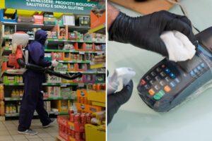 Blitz dei Nas nei supermercati della Campania: tracce di virus sul pos e nessuna sanificazione